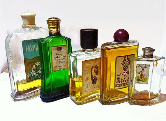 vintage collezione  bottiglie profumo antiche 1940 di danycoty