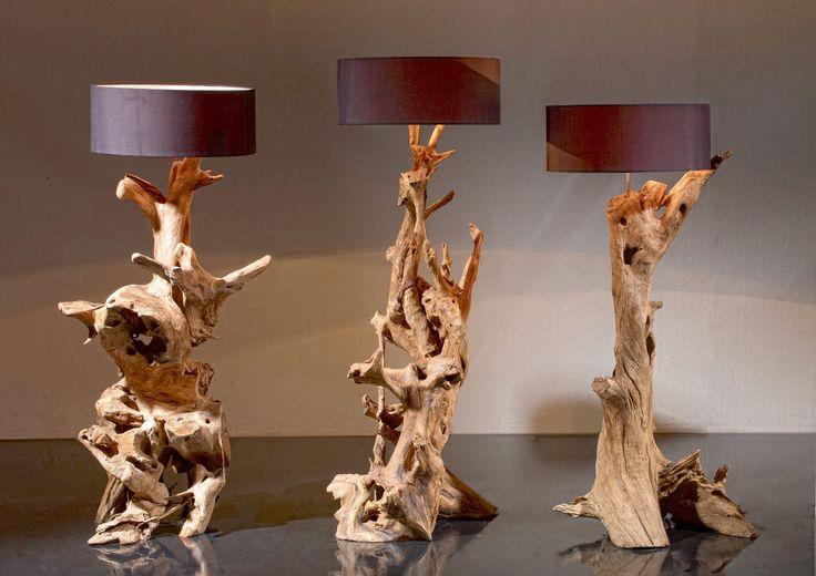 Stehlampe Standlampe RIAZ 160 cm Teak-Wurzel Teakholz Wurzelholz Unikat in Möbel & Wohnen, Beleuchtung, Lampen | eBay!