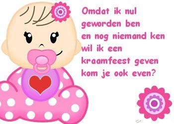 Leuke tekst voor een kraamfeest voor een meisje. Op Feest-Plaatjes.nl
