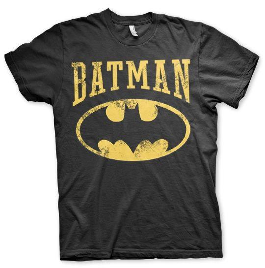 Batman Logo Vintage Koszulka Męska