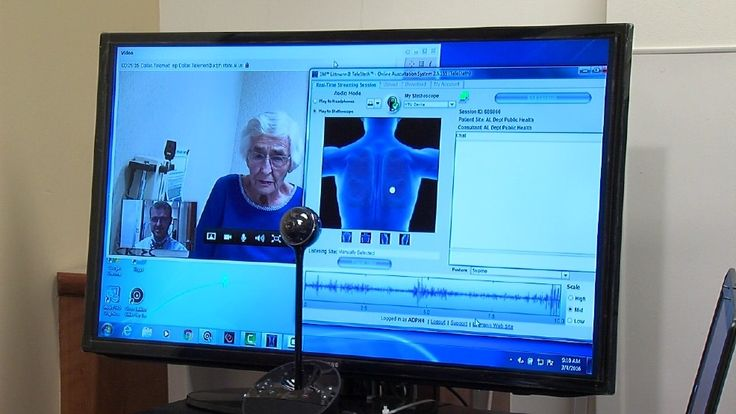 The technology to talk long-distance with a patient using the computer isn't new; but this, tele-medicine is.UAB Nephrologist, Dr. Eric Wallace says, Deep breath through your mouth. One more.Dr. Wallace sits in his Birmingham clinic conducting a complete f