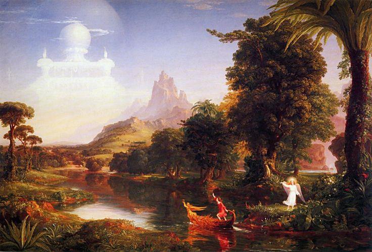 "Thomas Cole ""The Voyage of Life: Youth"" 1842 (National Gallery of Art, Washington DC)"