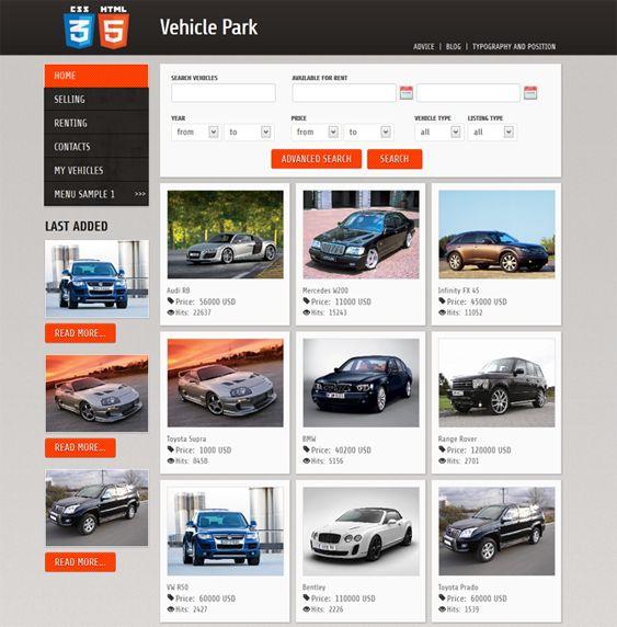 Car Dealership Website Layouts