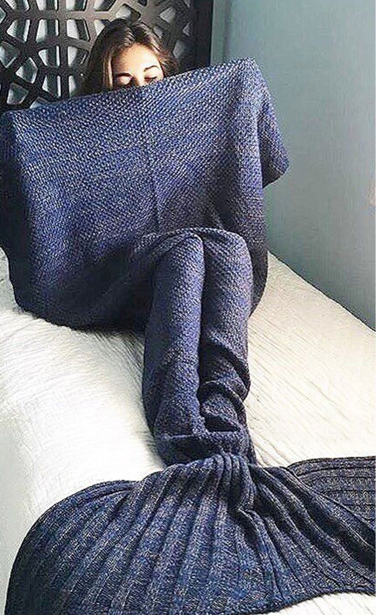 Mermaid Blanket In Cadet Blue