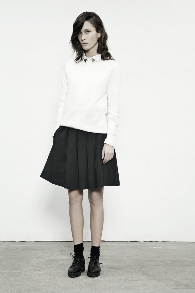 JUST FEMALE SS 13 // Play Skirt . Smith Shirt . Notes Blouse // Model : Emma Leth