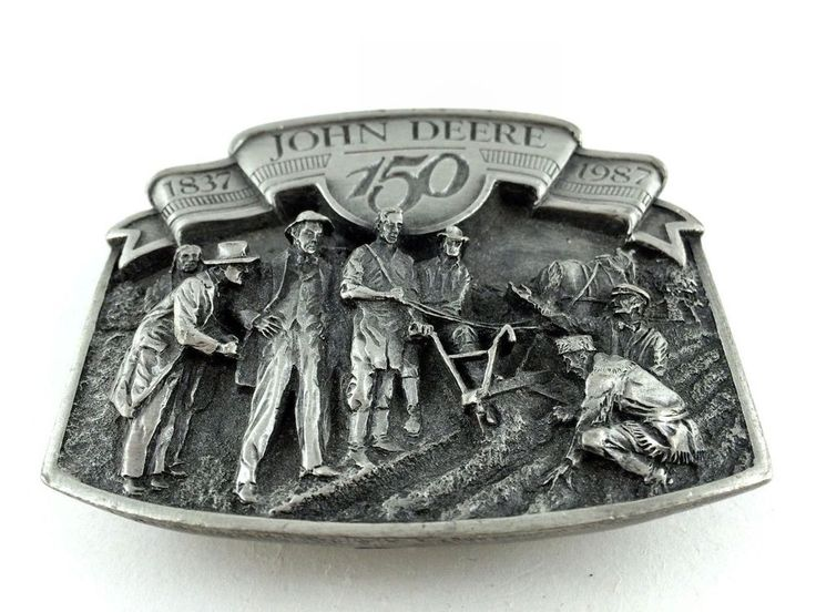 John Deere Belt Buckle 150th Anniversary 1837 1987 #JohnDeere