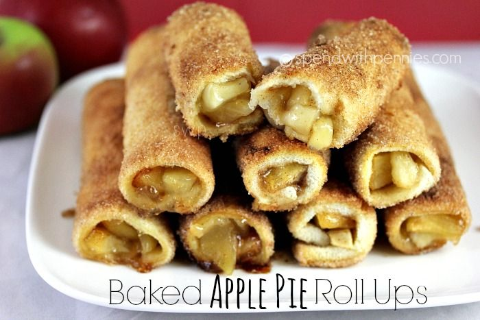 Baked Apple Pie Roll Ups Love it? Pin it to your DESSERT board to SAVE it! Yummy warm crispy bundles of apple pie! <3 Follow Spend With Pennies on Pinterest for more great recipes! These are super simple to put together and taste amazing, seriously! Nothing this easy should be allowed to taste this good! While I used apple pie filling, you can fill them with whatever you'd like including cream cheese & sugar or cherry pie filling. New: I've  {Read More}