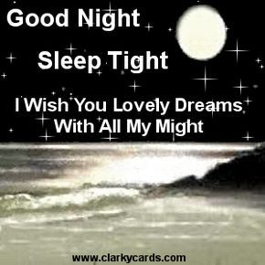 Good night Sleep Tight I wish you Lovely Dreams with all My Night