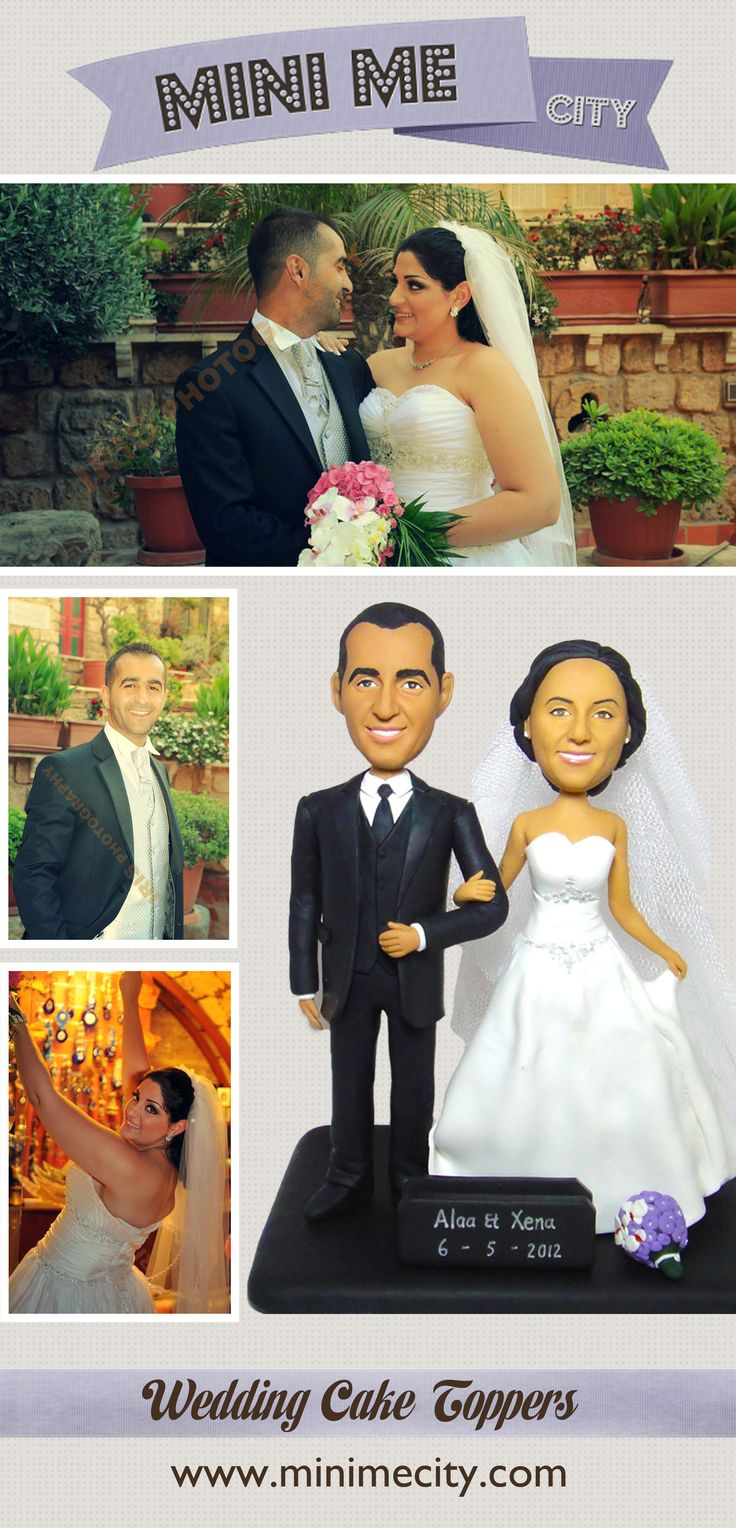 Amazing Stylish Cake Topper From You Photo Mini Me City Offers It To Personalized ToppersCustom Wedding