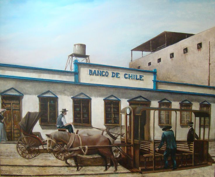 Luis Núñez, artista plástico #Antofagasta #Chile. Los carreteros de sangre, 1900. Óleo sobre tela.