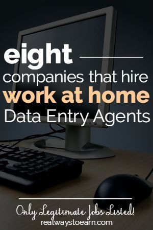 Are you interested in doing data entry work from home? While there are a lot of data entry scams out there, legit companies do exist. Here's a list of eight actual companies that do hire data entry agents on occasion to work from home. #WAHM Work at Home Mom Work at Home Ideas #workathomemom