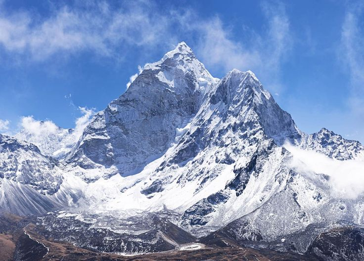 Himalaya Nepal Högt berg Snö fototapet/tapet från Happywall