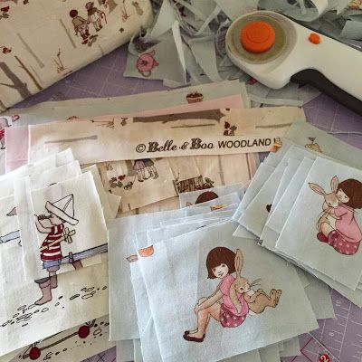 Belle and Boo fabric swatches