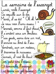 """La semaine de l'escargot"""