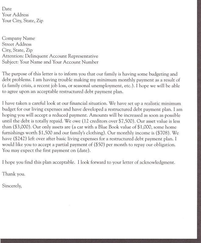 demand letter for money owed