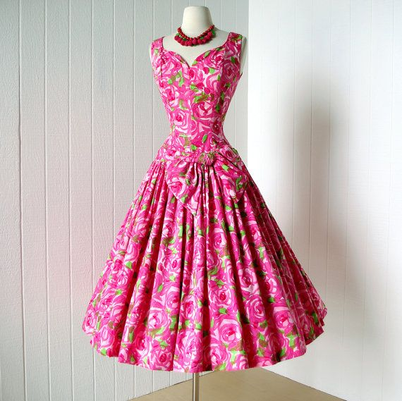 vintage 1950's dress gorgeous SUZY PERETTE