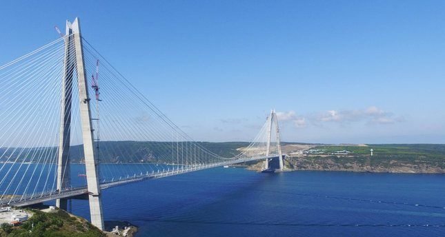 Istanbul's mega project Yavuz Sultan Selim Bridge to open in large ceremony