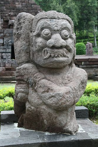 Statue at Candi Sukuh Temple, Java, Indonesia