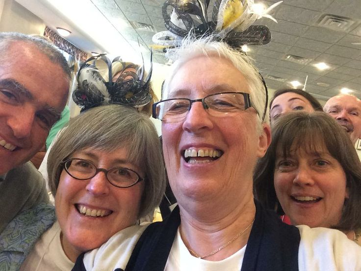 Here is a very festive #larcheselfie featuring L'Arche International Leader Eileen Glass, L'Arche USA Leader Joan Mahler, L'Arche Tahoma Hope Community Leader Stacy Cates-Carney and El Arca Mexico Board President Pedro Toussaint. They've just finished singing Happy 50th Birthday to L'Arche on the closing day of the L'Arche USA General Assembly!