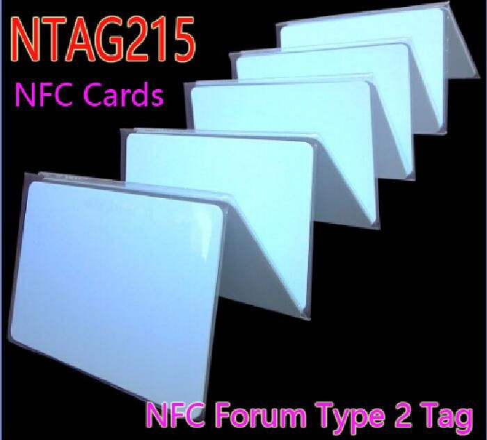 100pcs/Lot NTAG215 NFC Forum Type 2 Tag ISO/IEC Smart Card 14443 A NFC Cards Tag for All NFC Mobile Phone