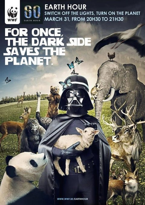 Darth Vader needs You!!!  ☛ The Earth Hour- March31-8:30pm