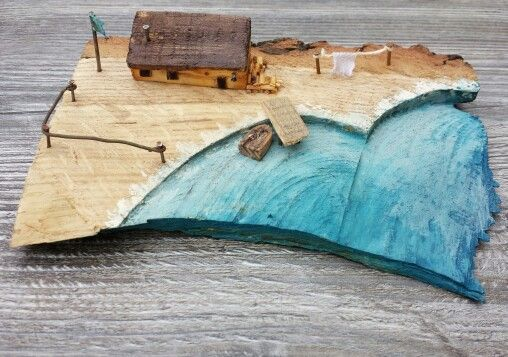 Old fisherman's house made from driftwood.