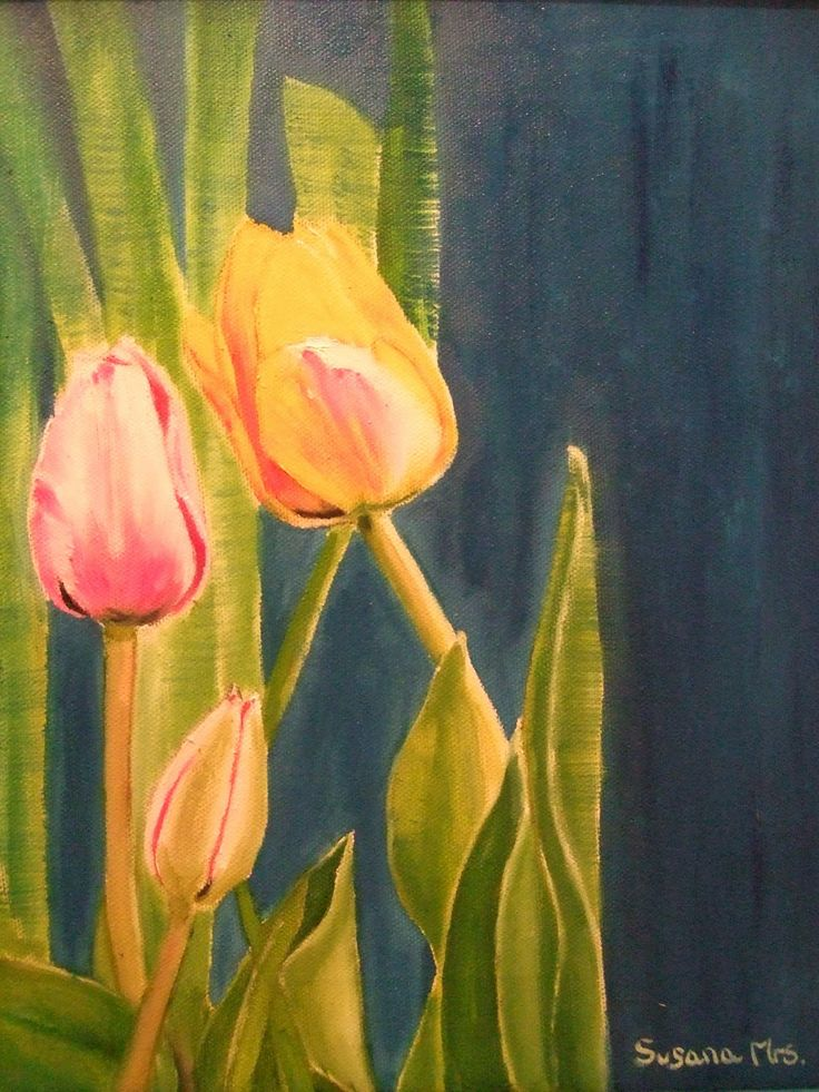 mejores 18 imágenes de mis pinturas florales en pinterest