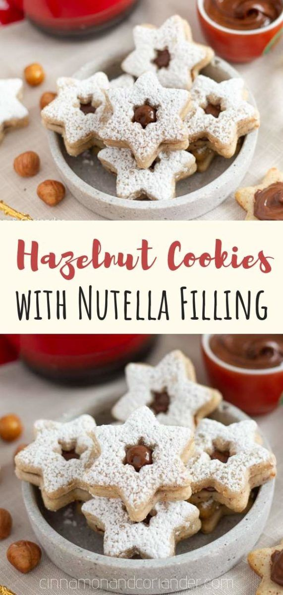 Hazelnut Sandwich Cookies With Nutella Filling