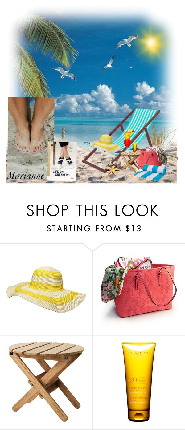 """Dagje aan zee"" by marianne-spiessens on Polyvore featuring interior, interiors, interior design, thuis, home decor, interior decorating, Dorothy Perkins en Clarins"