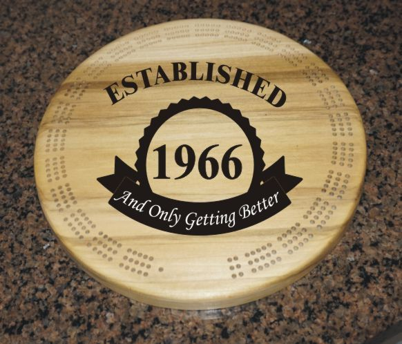 Get the best deals for 50th Birthday, established 1966, Custom wooden cribbage board, unique cribbage board, great personnalized birthday gift here - Product https://www.etsy.com/listing/254102354/50th-birthday-established-1966-custom?utm_source=mento&utm_medium=api&utm_campaign=api #toys