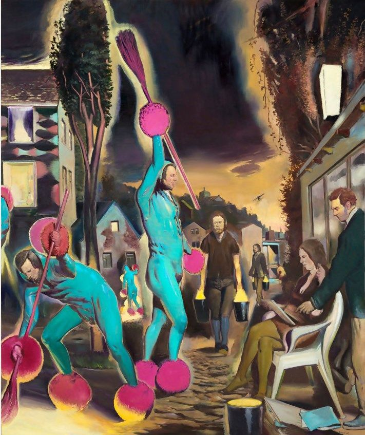 Neo Rauch Der Lehrling, 2015 - Oil on canvas, 300 x 250 cm