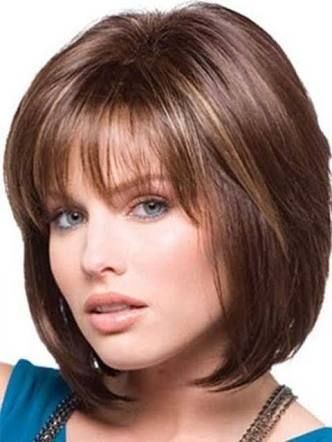 how to style a layered bob with bangs - Google Search