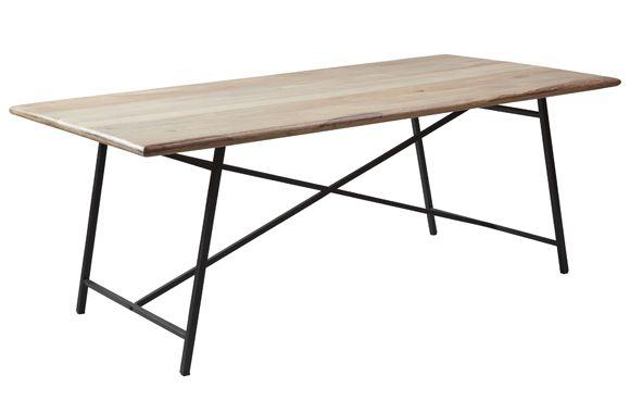 Schoner Grosser Esstisch Aus Mangoholz Mit Einem Soliden Rahmen Aus Schwarz Lackiertem Metall Der Feine Tisch Eignet Grosser Esstisch Wohnzimmer Bunt Esstisch