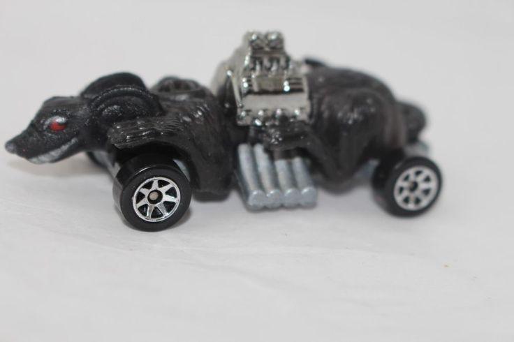 Hot Wheels *black Rat* 7-spoke wheels loose #HotWheels