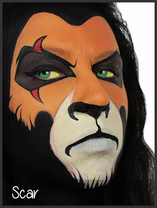 scar face painting by mimicks