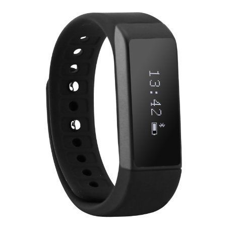 Sudroid Smart Wristband Bracelet Bluetooth 40 with Sleep Tracker Health Fitness for Android IOS iPhone Samsung Intelligent Sports Watch Step Sleep Track Caller ID Display Black ** Read more reviews of the product by visiting the link on the image.