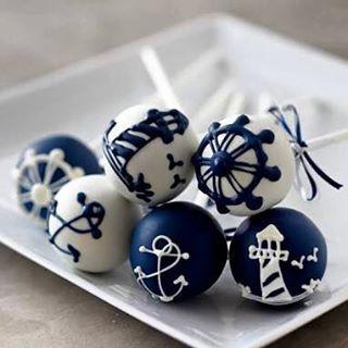 Nautical cake pops!!!! OMG!!