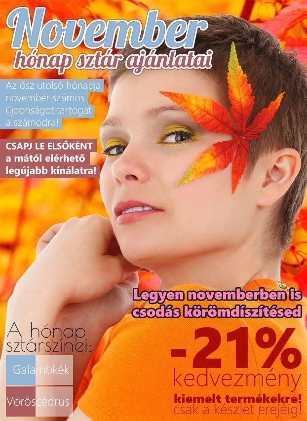 November hónap sztár ajánlatai már megérkeztek!