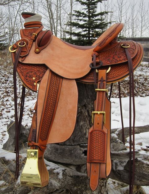 Saddles - The Leather Loft. Really like all that brass. Looks a lot like my own.