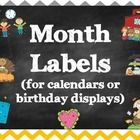 Perfect Month Labels for a Chevron and Chalkboard themed classroom. Could be used for your calendar, as a display in class, or for birthdays.   All...