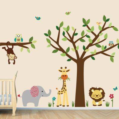 Jungle Wall Decals, Jungle Wall Stickers, Jungle Animals (SG Evergreen):Amazon:Home & Kitchen