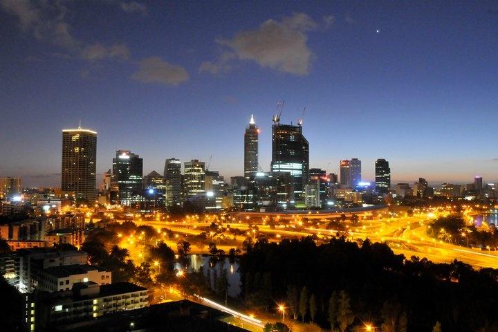 Perth City Twilight, By Kate Namestnik