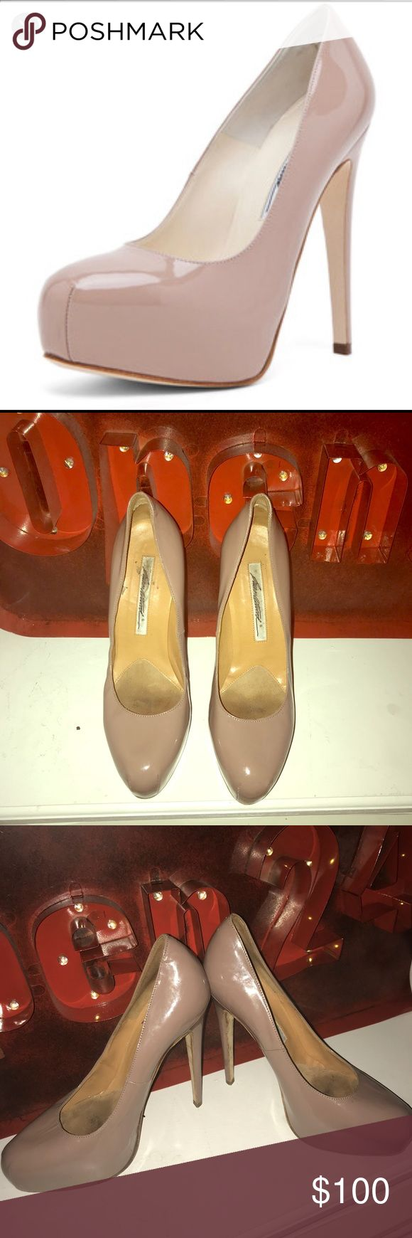 Brian Atwood Manic Nude pumps Pre-owned Brian Atwood Shoes Heels