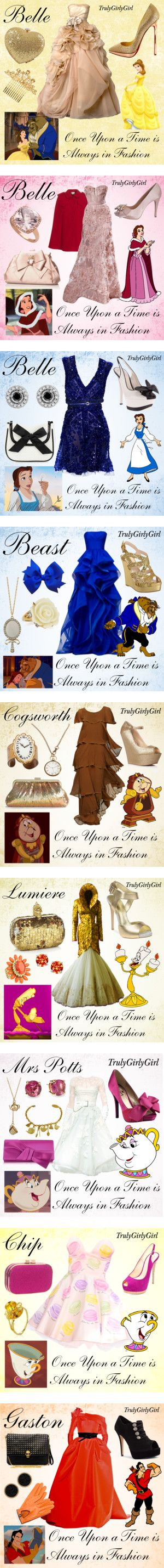 """Disney Style: Beauty and the Beast"" by trulygirlygirl ❤ liked on Polyvore"