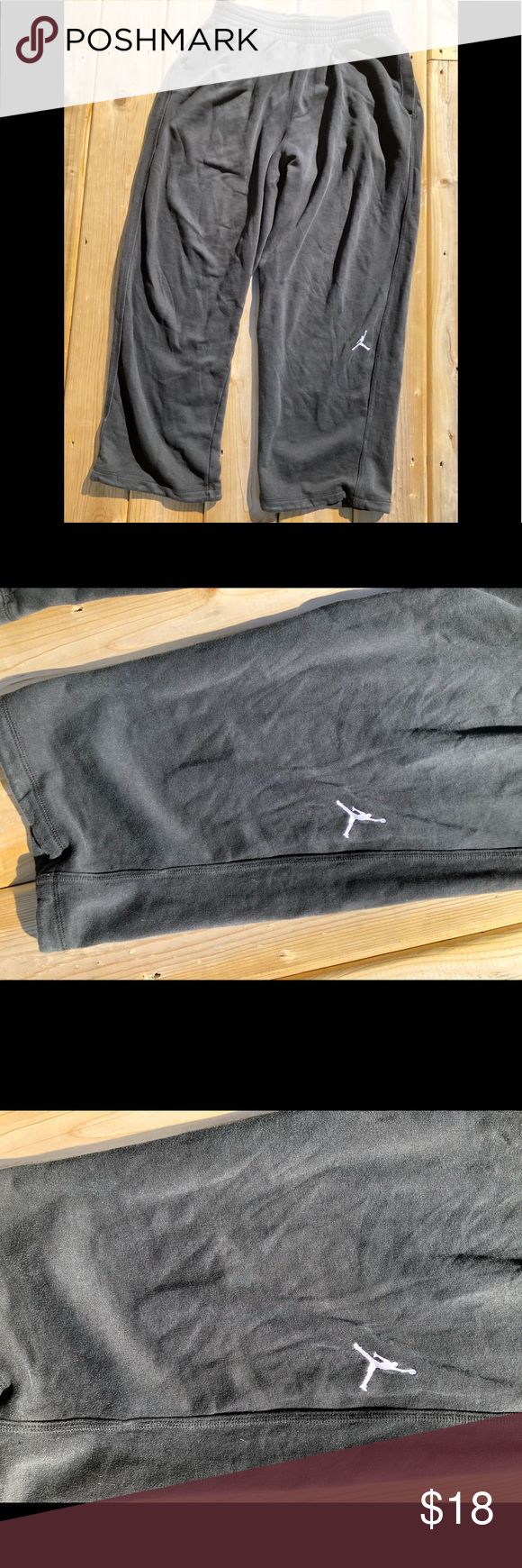 Air Jordan sweat pants Small stain on pant leg but it is so faint that you would have to put in up to your eye and shine light on it to see it Jordan Pants Sweatpants & Joggers