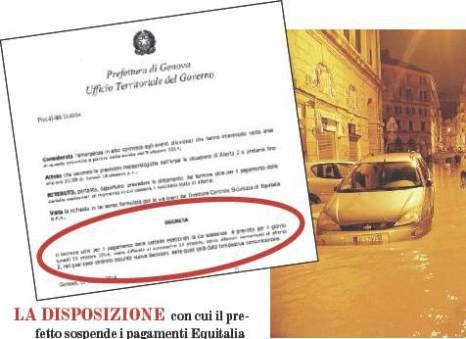 Informazione Contro!: GENOVA, LA BEFFA SU EQUITALIA CARTELLE SOSPESE PER...