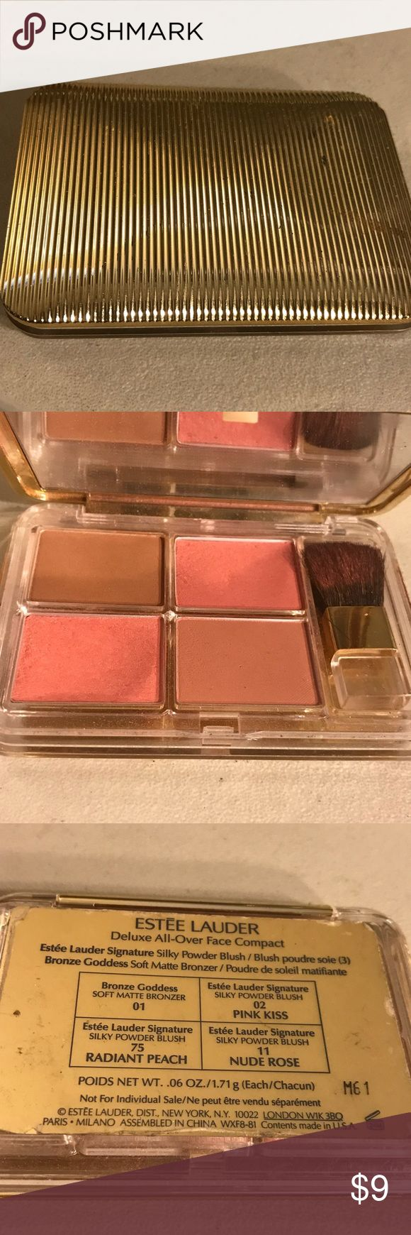 Estée Lauder deluxe all over face compact Estée Lauder deluxe all over face compact in various colors. Used. Thanks for checking out Luxury1cosmetics!! Offers are welcomed, bundles are discounted!!! Estee Lauder Makeup
