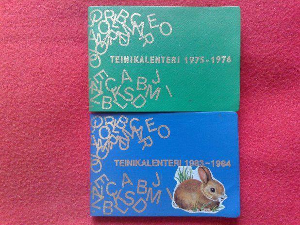 Nostalgiset Teinikalenterit - minulla on joku vielä tallessa... Nostalgic! I still have couple calender like these... :)