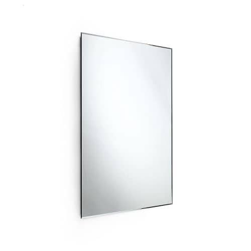 """WS Bath Collections Speci 5664 23-1/2"""" x 31-1/2"""" Rectangular Wall Mounted Frameless Beveled Mirror, Silver stainless steel"""