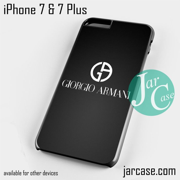 giorgio armani black logo Phone case for iPhone 7 and 7 Plus